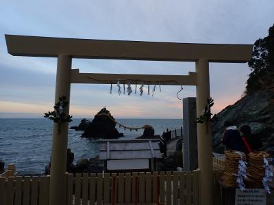 バイクで伊勢神宮初詣 二見輿玉神社で日の出?伊勢神宮下宮・猿田彦神社へ参拝しました。