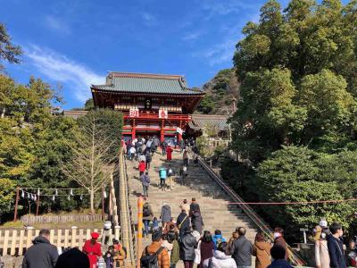 鎌倉鶴ヶ岡八幡宮初詣と江ノ島、寸景