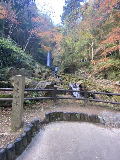 岐阜で最後の観光は養老の滝