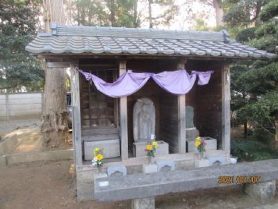 我孫子市の青山・無量院・相馬霊場(65)・石仏
