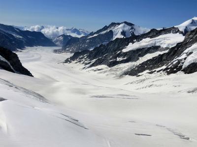 アルプス5大名峰と絶景列車の旅 25 旅行の神様が微笑んだ ユングフラウ② 快晴のユングフラウヨッホ