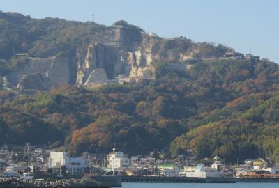 2020暮、四国続日本百名城巡り(19/22):12月6日(5):能島城(1):村上水軍博物館、村上武吉公像、小早船