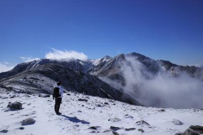 初冬の中央アルプス・将棊頭山 雪山登山(桂小場ルート)