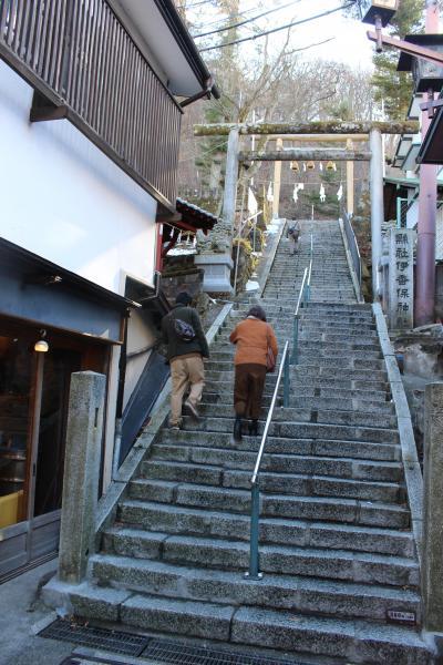 伊香保温泉の階段を歩く