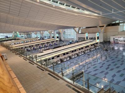シニアトラベラー! 本当に寂しい羽田空港第3ターミナルのひととき