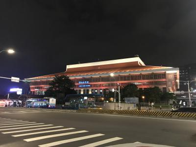 夫婦2人でGWの台湾旅行5泊6日_1日目(台北駅・二二八和平公園・ホテル…