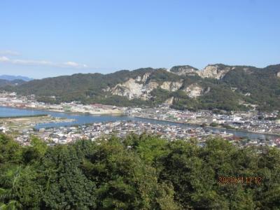 四国霊場最後の巡礼(50)屋島崖上から源平古戦場を見る。