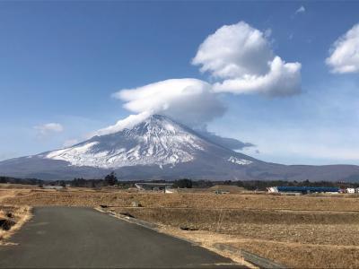 2021年1月、何故か雪の少ない富士山