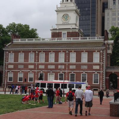 ペンシルベニア州 フィラデルフィア ー 世界遺産の独立記念館と大統領の家跡