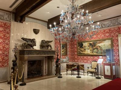 冬の雨、箱根 ー ガラスの森美術館、箱根関所
