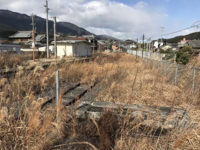 廃線跡を巡る~和歌山線北宇智駅のスイッチバックの遺構~
