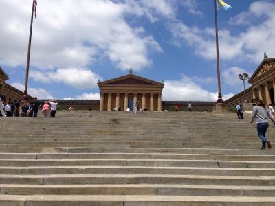 ペンシルべニア州 フィラデルフィア ー ロッキーの名シーンロケ地のフィラデルフィア美術館