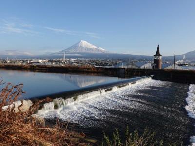 自転車でGO! 2021.01.25 =富士山に待望の雪が積もりました=