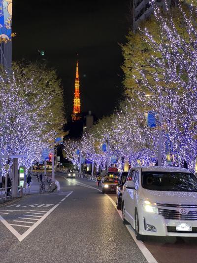 六本木東京ミッドタウンと六本木ヒルズ前のけやき坂のイルミネーション