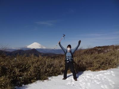 月例登山報告/箱根明神ヶ岳・その2.明神ヶ岳を登頂!下山時に天罰が下る。