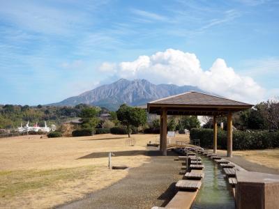 わっぜよかとこ!かごんまNo.1「あぢもり」の黒豚とんかつ 桜島を眺めながらの足湯 ぶらり日本の城めぐりその58「鶴丸城跡」