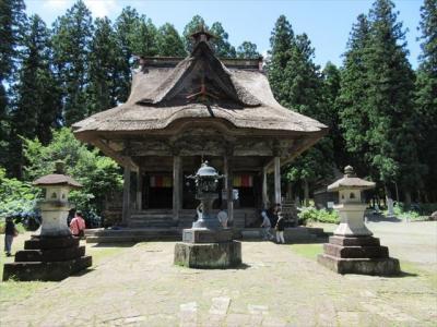笹野観音堂のアジサイと編木川ダム・小野川温泉