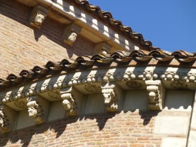 休暇でロマネスク トゥールーズ 4 サン・セルナン教会 外観巡り