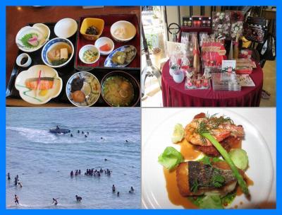 沖縄2014秋(2)ホテル日航アリビラステイ(佐和の朝食、金紗沙ランチブッフェ、ベルデマール夕食)