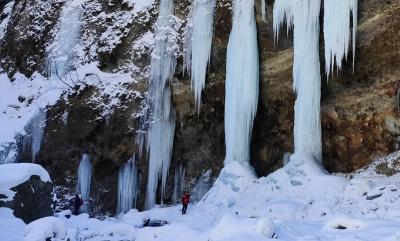 2021年度の雲竜渓谷の氷瀑へ