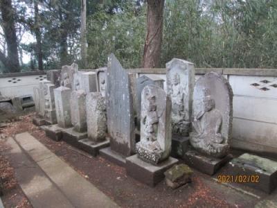 流山市の西深井・深井城跡・流山100か所めぐり(2)・不動堂・石仏