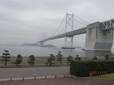 四国霊場最後の巡礼(66)瀬戸大橋と備讃瀬戸。