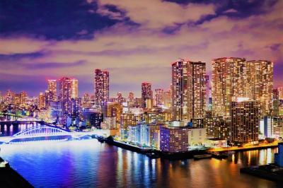 新スポット!美しい都心のウォーターフロント☆メズム東京 ホテルステイ☆夜こそ本領発揮!夜景がすごい!バーで夕食~オシャレな朝食 編