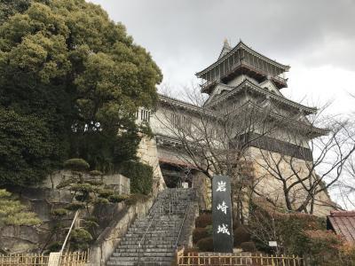 愛知県の城跡巡り:岩崎城跡。織田信秀が築城、曲輪・土塁・空堀跡が残る
