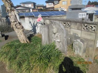 我孫子市の古戸・共同墓地・石仏
