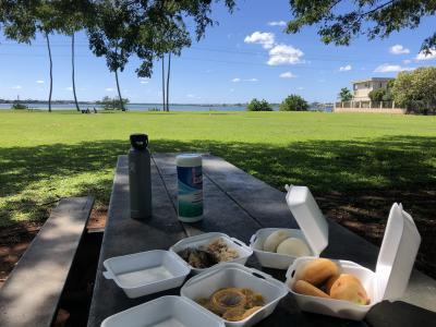 2021.2【ハワイ】マナプアを持って公園でソーシャル・ディスタンシング!