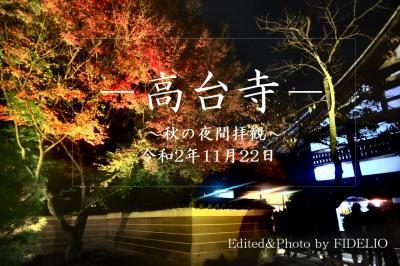 2020秋 関西・京都 紅葉めぐりの旅〈第7幕〉【2日目:夜の高台寺編】~時には昔の話を~