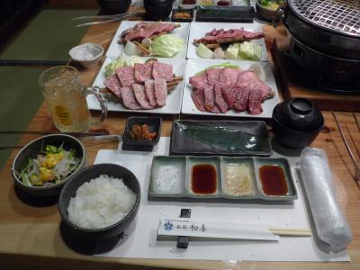 美味しいお肉の西新・初喜で孫の高校合格祝と二月誕生祝を併せての食事会をしました!!
