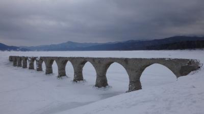 凍った湖の上を歩いてみた。