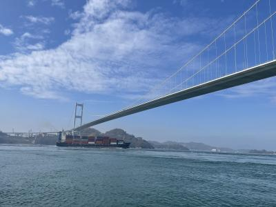お散歩 来島大橋から馬島