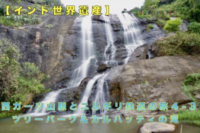 【インド世界遺産】西ガーツ山脈とニルギリ鉄道の旅4-3 ツリーパーク&カルハッティの滝