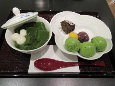 旅の締めくくりに「中村藤吉本店 京都駅店」で抹茶のゼリイと抹茶アイスを頂く