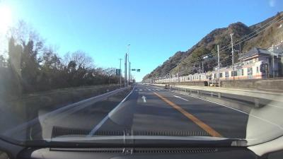 静岡市広野海岸公園へ 2021.02.05 =1.往路=