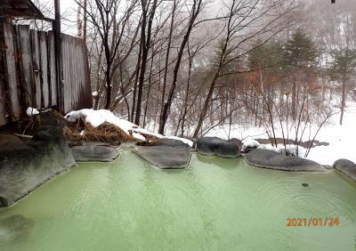 信州北部の日帰り温泉巡りと菅平のスキー
