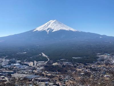 河口湖方面へ観光。ここまで美しい富士山を見たのは、生涯で初めて!
