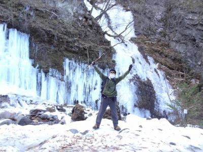 信州.横谷温泉湯治旅・その2.横谷峡氷上ウォーキング。
