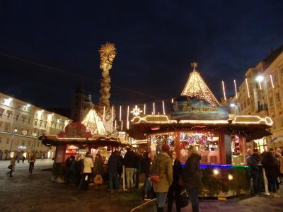 2018年オーストリア&スロヴァキアのX'sマーケット【17】イルミネーションに輝くクリスマスマーケット