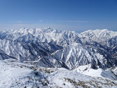 雪の北アルプス♪八方尾根から唐松岳