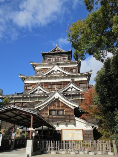日本百名城 73 広島城 と 広島お好み焼きのイカ天って天ぷらじゃないのね