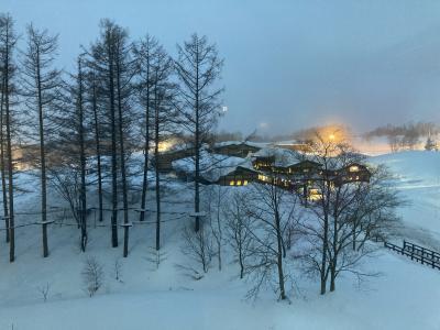 ニセコで一人スキー、ヒルトンダイヤ友人とニセコヒルトン泊