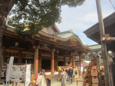 翌週試験なので湯島天神で合格祈願! 上野から湯島を通って水道橋まで歩きました