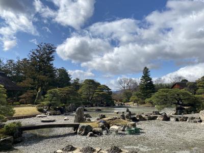 桂離宮と隆兵そばと福田美術館 曇天で観梅