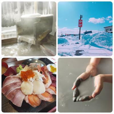 JALどこかにマイルで北海道@欠航で予定激変!大雪のドライブで温泉&グルメ旅~千歳・長万部・ニセコ・苫小牧