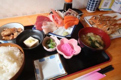 湯本駅近くの人気店「海幸」で刺身定食を堪能してから温泉神社を参拝