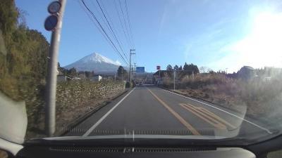 富士山の日に… 2021.02.23 ①自宅~西臼塚駐車場
