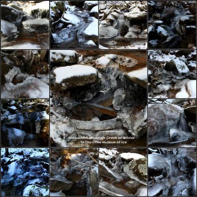 ◆冬の東野の清流は氷の小さな美術館